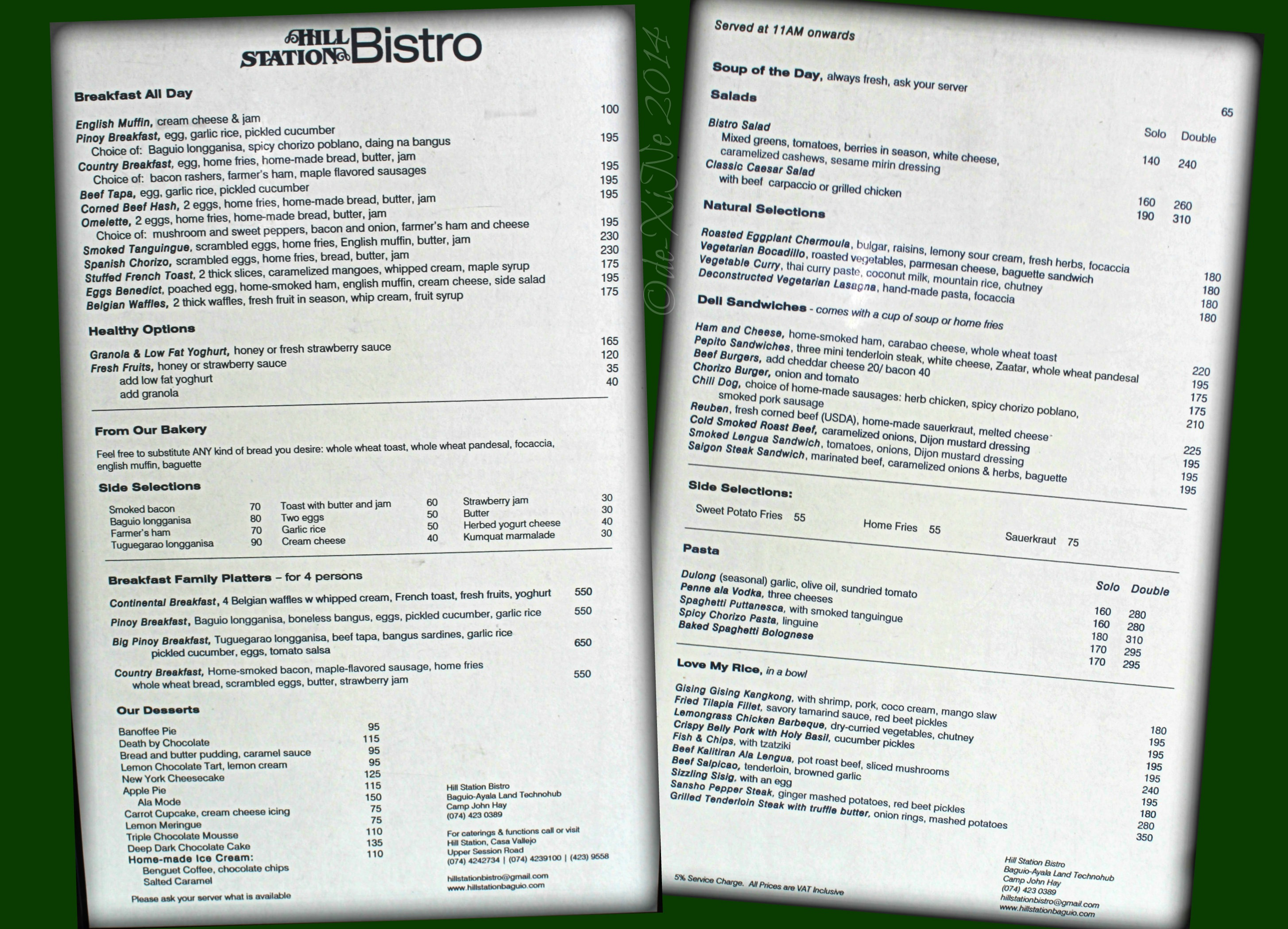 My Mother S House Restaurant Menu