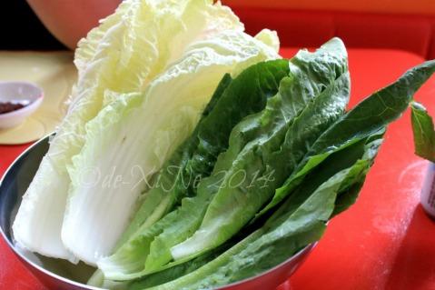 O Dong Tong Samgyeopsal House Korean Restaurant Baguio leafy and crunchy greens