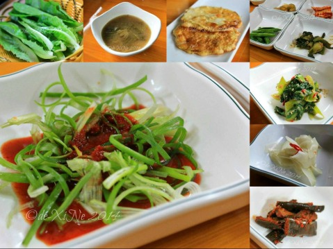 Keumsan Korean Restaurant Baguio side dishes and other accompaniments - soup, leafy greens, pajori