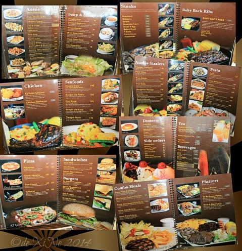 2014-09-02 Kangaroo Jack Restaurant Baguio menu