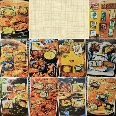 Keumsan Korean Restaurant Baguio menu
