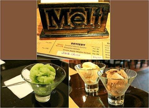 Melt Restaurant Baguio Nora's sorbet and premium gelato desserts