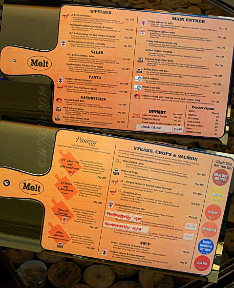 Melt Premium Meats Restaurant US Angus Beef Panizza Salmon Baguio menu