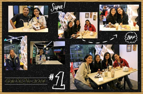 X and loved ones at Escuela Restaurant+Cafe Baguio