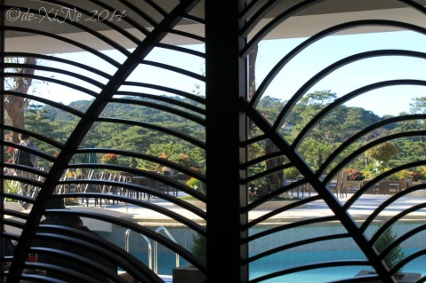Elements at Newtown Square Plaza Hotel Baguio view through the window grills