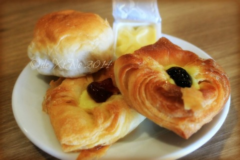 Elements at Newtown Square Plaza Hotel Baguio croissants and bread roll with butter