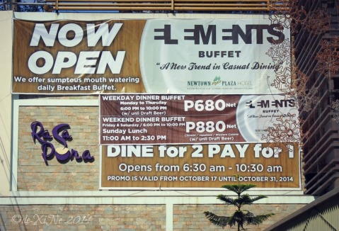 Newtown Square Plaza Baguio the buffet offering