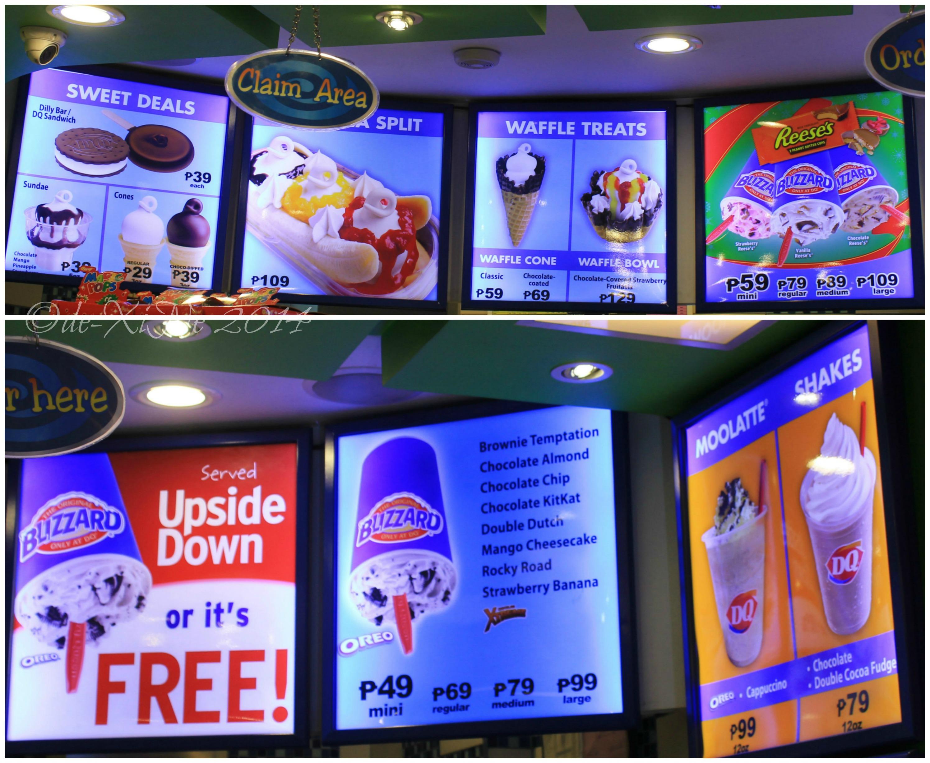 Dairy Queen Ice Cream Cake Menu Philippines