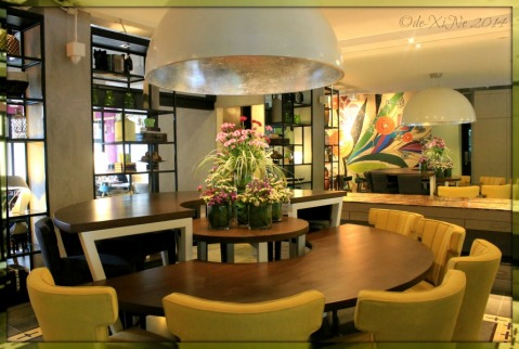 A section of the dining area at Baguio Patch Cafe at Bloomfield Hotel