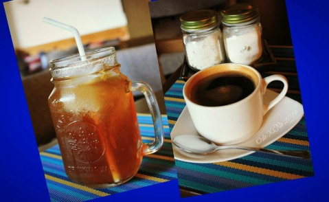 Baguio Patch Cafe at Bloomfield Hotel iced tea and cafe Americano