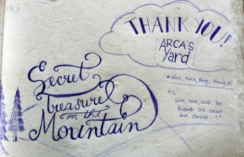 Baguio 777 Tiptop Arca's Yard 2014 our dedication on their guest book