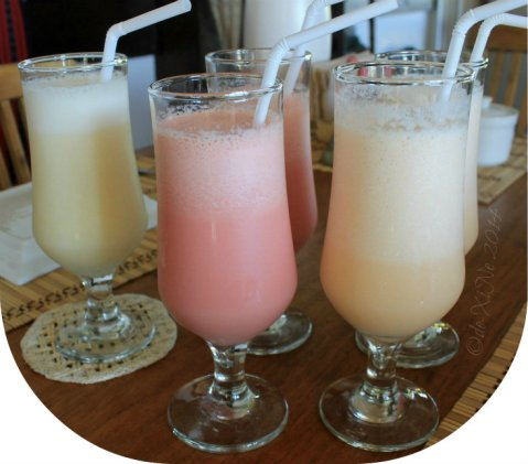 Baguio 777 Tiptop Arca's Yard 2014 smoothies - pineapple, watermelon, cantaloupe