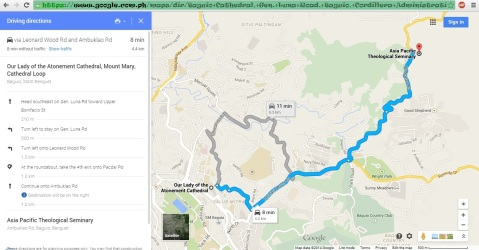 2014-12-31 Baguio Arca's Yard beside APTS by Google Maps