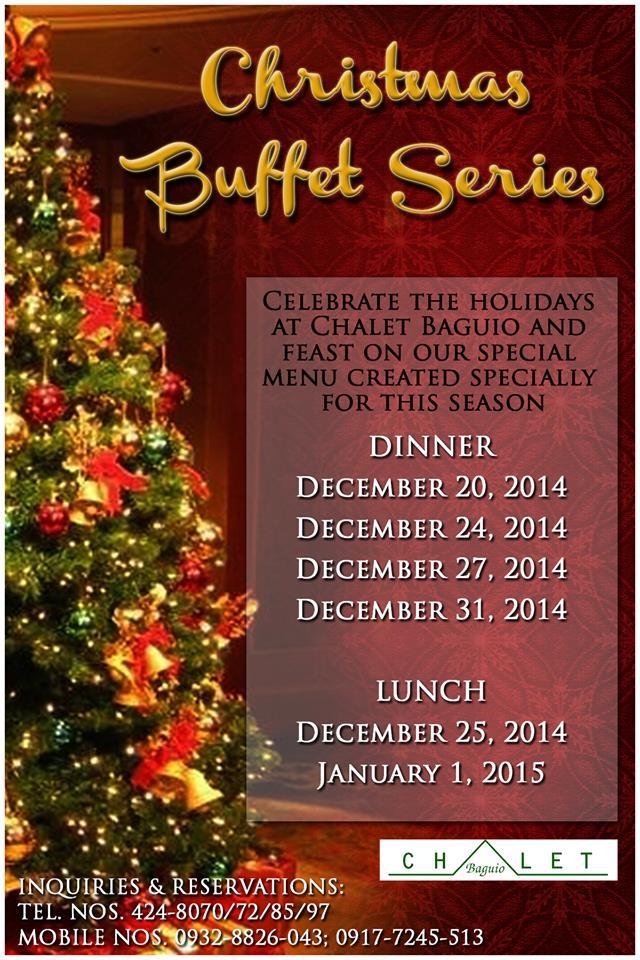 Chalet Baguio Christmas Buffet Series 2014