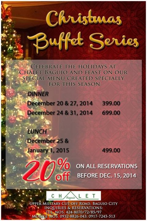 Chalet Baguio Christmas Buffet Series 2014