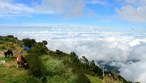 Baguio Sto Tomas Cafe in the Sky view of the sea of clouds