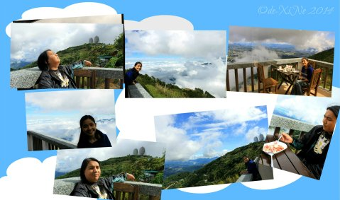enjoying the view at Baguio Sto Tomas Cafe in the Sky