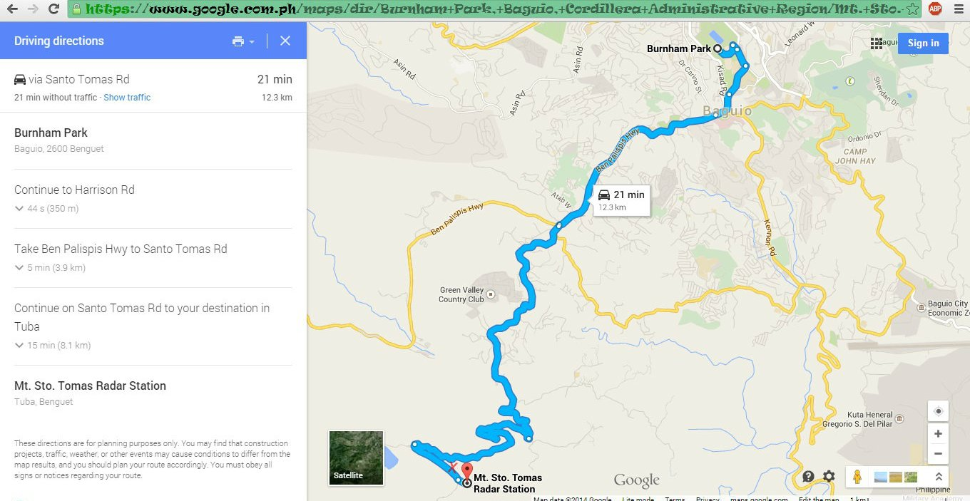 Destination Chow Mt Santo Tomas Cafe In The Sky And Baguio - Baguio map