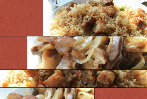 Baguio Mandarin Restaurant  2014 home of great Chinese cuisine fried rice with lechon Macau and a plate of lumi