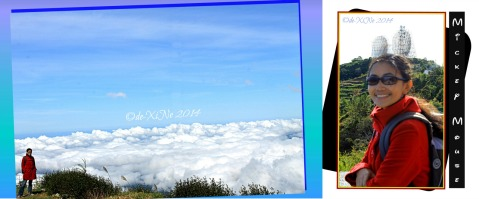 photos in Metro Baguio Tuba Benguet Cafe in the Sky Sto Tomas with sea of clouds and Mickey Mouse ears radar
