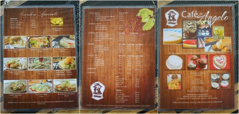 Baguio Cafe de Angelo menu 2014