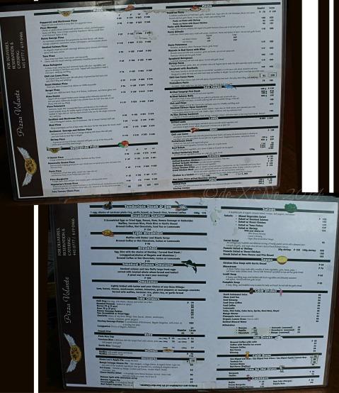 Baguio Pizza Volante menu 2014