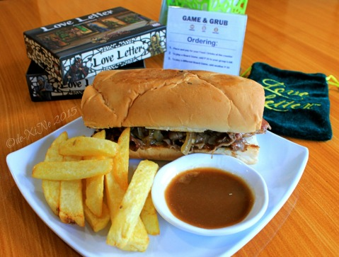Baguio Game and Grub Boardgame Cafe 2015 roast beef sandwich