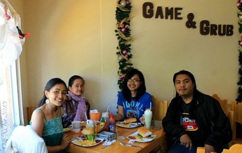 X and foodie loved ones enjoying the food and games at Baguio Game and Grub Boardgame Cafe 2015