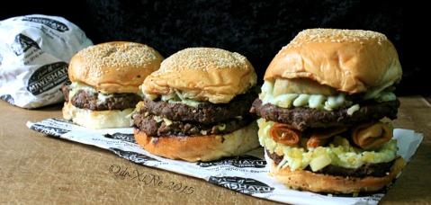 Baguio Miwishayu Burger Stand 2015 Monster overload burger, dreaded twain burger, wisha burger