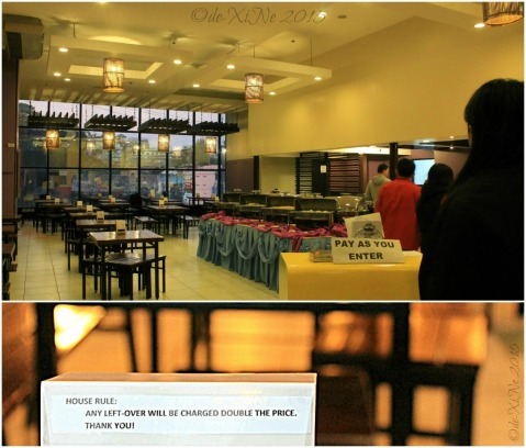 Baguio Buffet Republic restaurant house rules 2015
