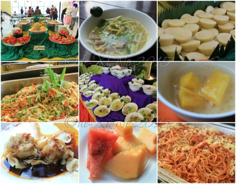 Baguio Buffet Republic restaurant 2015 Fruits, mami, puto, lumpiang hubad, more mami, ginataang cassava, siomai, the fruits upclose, spaghetti