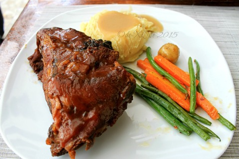 Baguio Pine Country Steaks and Waffles restaurant  country barbecue glazed ribs