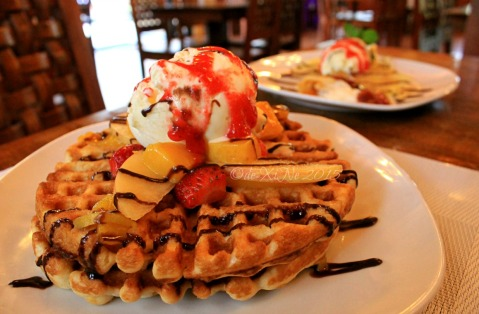 Baguio Pine Country Steaks and Waffles restaurant  country waffles