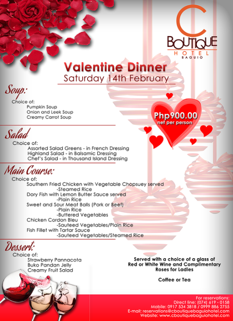 Baguio C Boutique Hotel-Charley's Valentines Special 2015