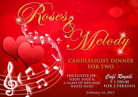 Baguio Crown Legacy Hotel-Cafe Royale Valentines Special 2015