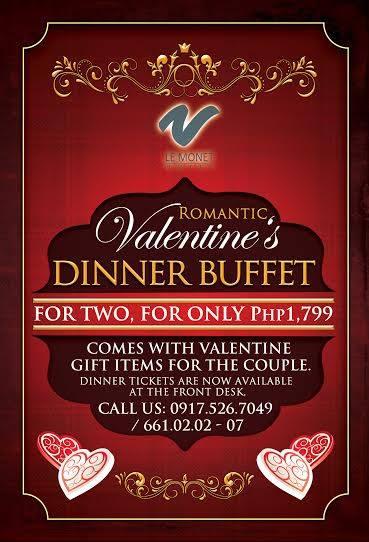 Baguio Le Monet-Dinelli Gourmet Valentines Special 2015