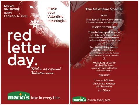 Baguio Mario's Valentines Special 2015