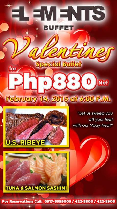 Baguio Newtown Plaza Hotel Elements Buffet Valentines Special 2015