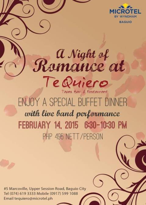 Baguio Te Quiero Tapas Bar and Resto Valentines Special 2015