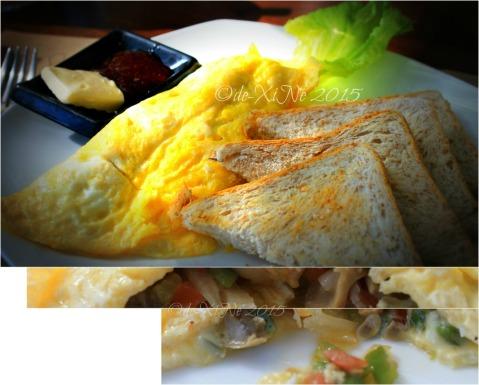 Baguio La Casa Bianca Hotel Spa Cafe 2015 Spanish omelette