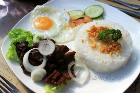 Baguio La Casa Bianca Hotel Spa Cafe 2015 tapa breakfast