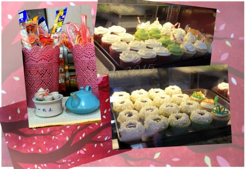Baguio Teacup and Cake display case