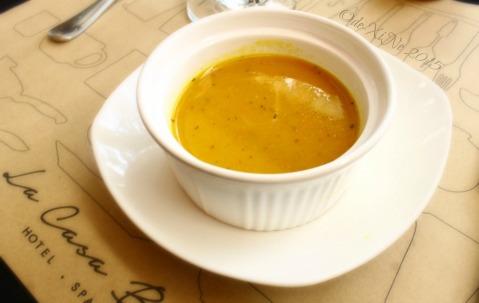 Baguio La Casa Bianca Hotel Spa Cafe 2015 carrot soup