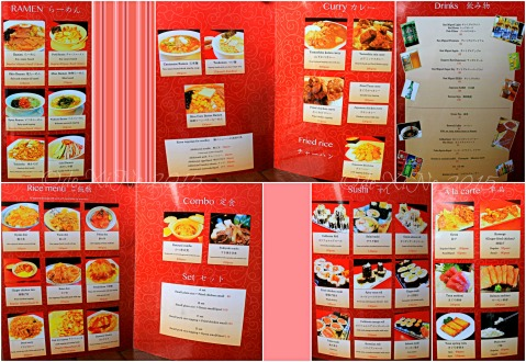 Baguio Sakura Terrace by Yamashita Ramen Group  2015 menu