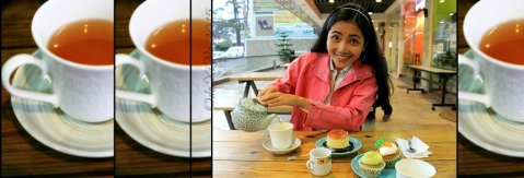 having tea at Baguio Teacup and Cake