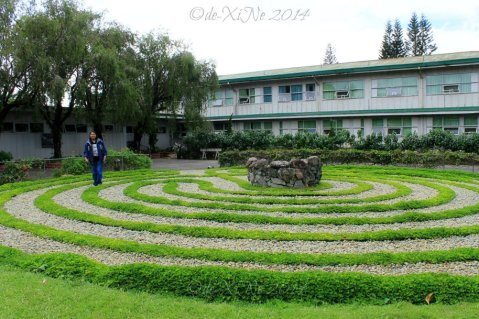 Baguio Mirador Jesuit Villa 2014 Race walking the Knidos Labyrinth