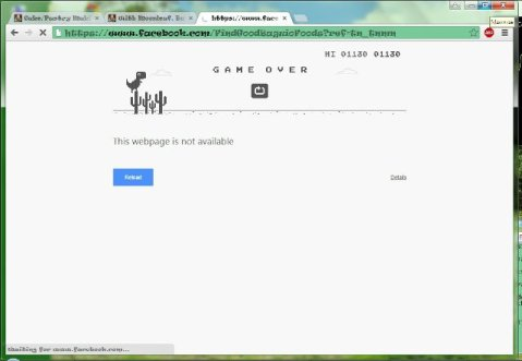 Google Chrome no internet dino game 2015