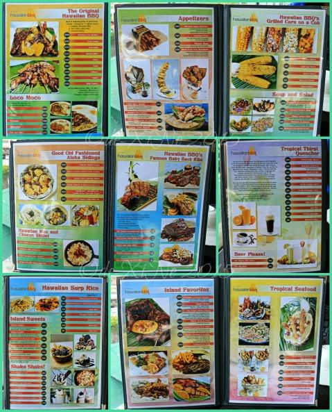 2015-02-23 Baguio Hawaiian BBQ menu
