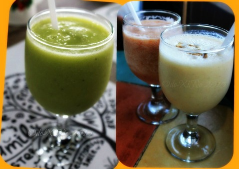Baguio Calajo Foodhouse drinks - banana celery, tomato rush and nutty apple 2015