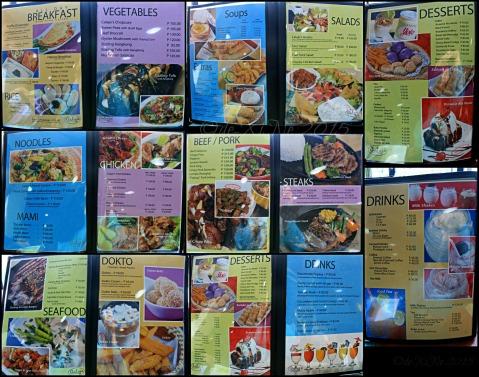 Baguio Calajo Foodhouse menu